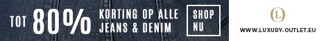 Outlet tot 80% korting op Jeans en Denim.