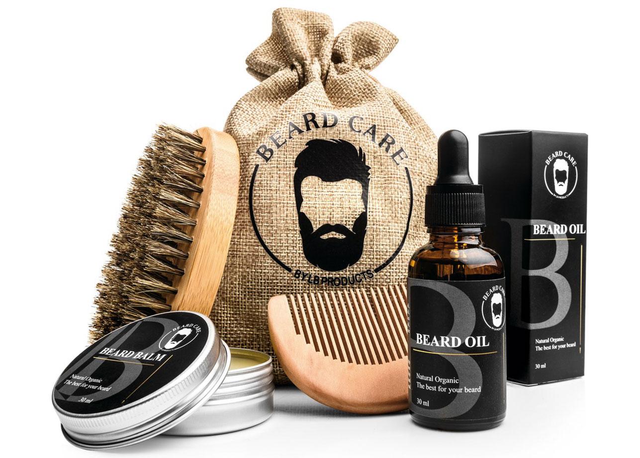 Bestsellers in Cadeausets: Deze baardverzorging set van LB Products is een MUST HAVE voor elke man met een snor en/of baard.