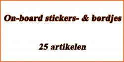 On-board stickers- & bordjes