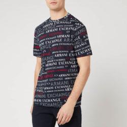 Armani  T-shirt met print voor heren - All Over Navy