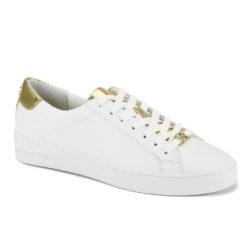 MICHAEL KORS sneakers met veters van Irving voor dames, wit