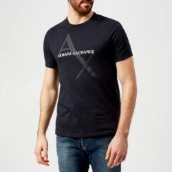 Armani Exchange T-shirt met scriptlogo voor heren - marine