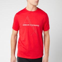Armani Exchange T-shirt met bijl heren groot logo - Absoluut rood