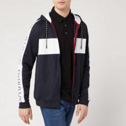Armani Exchange hoodie met tape en blokdetail voor heren - marine / wit