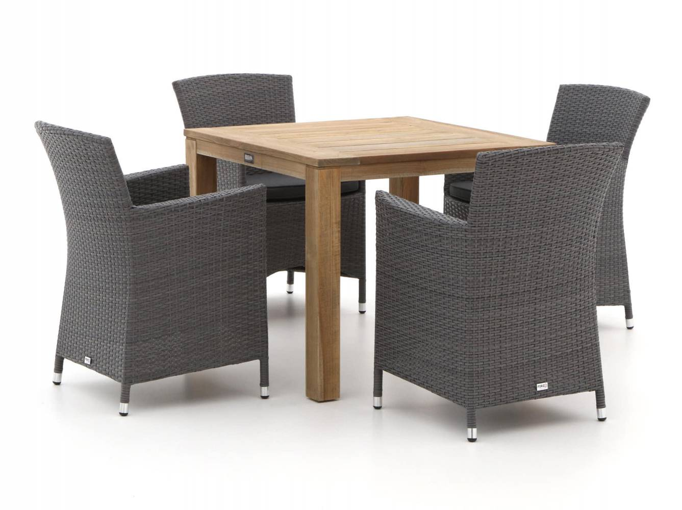 Forza Barga/ROUGH-S 90cm dining tuinset 5-delig. Laagste prijs Tuinsets